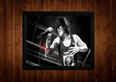Kellin Quinn Signed Framed Pp A4 Print Gift Ideas Sleeping With Sirens