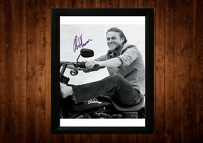 Charlie Hunnam Signed Framed Pp A4 Print Gift Ideas Sons Of Anarchy Pacific Rim