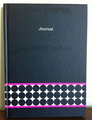 Black  Journal With Lined Pages Notebook Hardcover NEW