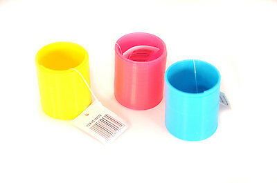 Plastic Coil Spring Slinkies Slinky Mini Kids Toy Yellow Pink Blue - Size 50Mm