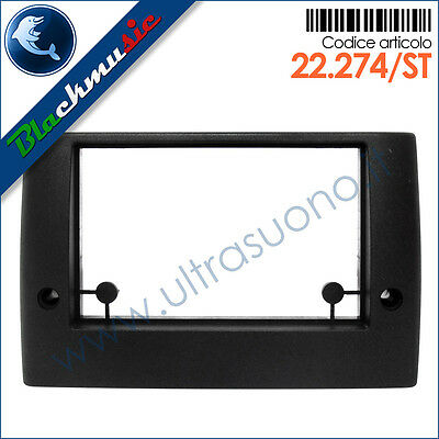 Mascherina supporto autoradio 2ISO-2DIN Fiat Stilo (2001-2007)