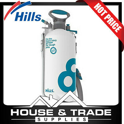 Hills 8L Industrial Sprayer w/ Viton® Seals Garden, Concretor Pressure Spraying
