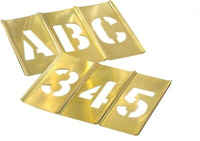 "CH Hanson 10067 3/4"" Brass Letters & Number Set 45 pc"