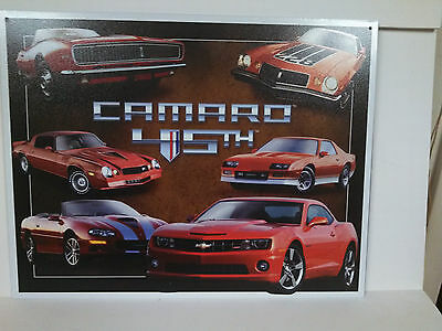 CHEVROLET CAMARO 45TH ANNIVERSARY COLLECTIBLE  METAL SIGN