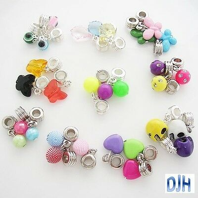 Bulk Dangles for Euro Bracelet Many Designs Great Birthday Party Activity Qty 10