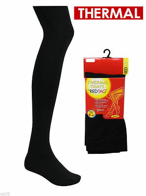 Girls Redtag Thermal Black Tights 46B191