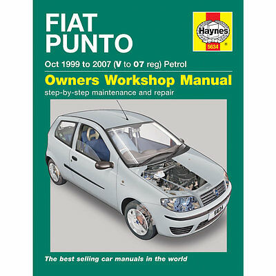Fiat Punto 1.2 Petrol October 1999-2007 Haynes Workshop Manual