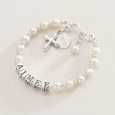 Luxury First Holy Communion Bracelet with Engraving in Sterling silver