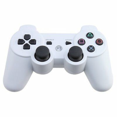 Sixaxis Dualshock3 White Wireless Bluetooth Game Controller For Sony PS3 Manette