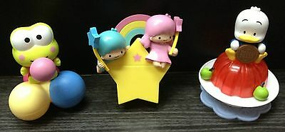 3x Sanrio Hello Kitty & Friends Toy ~ Plastic Doll Cute Container Jewelry Case