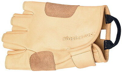 Singing Rock ¾ Quality Leather Grippy Gloves w/ Reinforced Palm [Sizes 8-11]