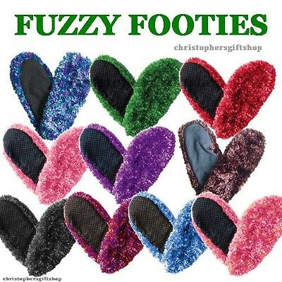 FUZZY FOOTIES SLIPPERS  - Women / Ladies - Over 30+ Colors