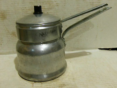 Vintage Worthmore Aluminum Double Boiler Made in USA