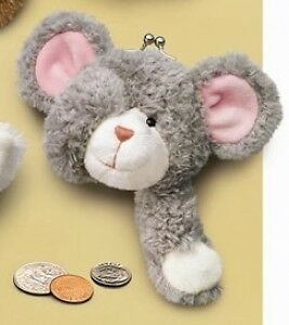 RUSS Berrie Soft Plush Mouse Clip Purse great Child Gift