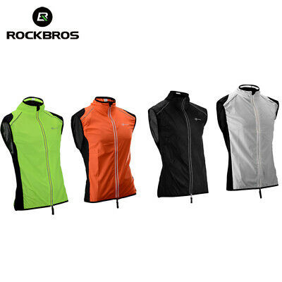 Vests Rockbros Reflective Cycling Sleeveless Jersey Outdoor Sporting Wind Vest Special Buy