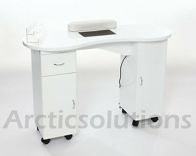New portable manicure table nail technician workstation for Manicure table with extractor fan