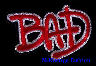 """Michael Jackson  """"BAD"""" patch, embroidery"""