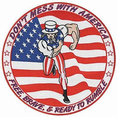 DONT MESS WITH AMERICA sew on high quality EMBROIDERY EMBLEM-Patch GIFT?