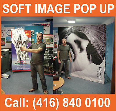 10' TENSION Fabric Pop-Up Display FRAME Trade Show Booth Stand + Traveling Bag