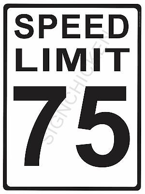 SPEED LIMIT, 75, MPH, traffic sign, road and street signs, speed, caution,