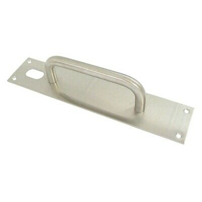Kaba Entrance Door Pull Handle on Plate w/Hole PH220SSS 300x65mm Stainless Steel