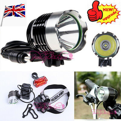 2000 Lm CREE XM-L XML T6 LED Bicycle Bike light Head Light Headlamp Rechargeable