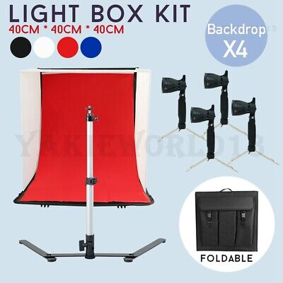 PRO LARGE 50CM Cube Studio Soft Box Light Tent Photography Softbox Lighting Kit