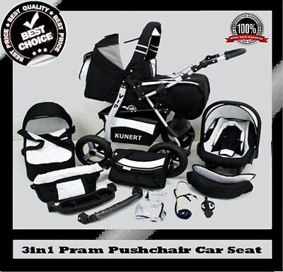 VIP 3in1 BABY PRAM + PUSHCHAIR + CAR SEAT 40 COLOURS REDUCED PRICE