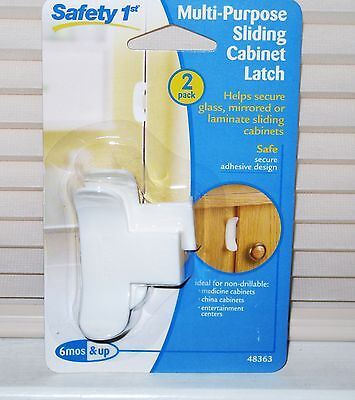 Safety 1st Multipurpose Sliding Cabinet Latch - Baby Safety 2 Pack NEW