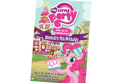My Little Pony Birthday Invitation 24hr Service UPRINT 4x6 or 5x7