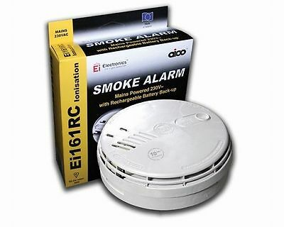 AICO Ei161RC Ei Professional IONISATION SMOKE FIRE ALARM 10Years Lithium Battery