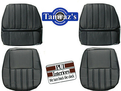 1970 Camaro Deluxe Front & Rear Seat Upholstery Covers - Black PUI New