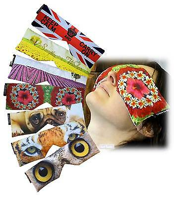 Soft Printed Satin Lavender Oil Infused Linseed Eye Pillows / Soothing Eye Mask