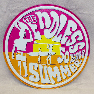 Endless Summer 50 Years Round Metal Sign, New!