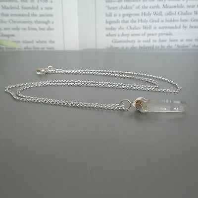Quartz Point Necklace - on 18 inch chain - Natural Healing Crystal Pendant