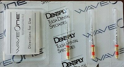 Dentsply Tulsa Waveone Wave One Files 25mm Primary Endodontic Dental Root Canal