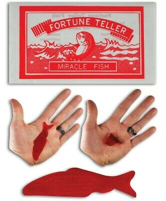 ( 12 ) Miracle Fortune Telling Fish - Teller Palm Reading gag party gifts