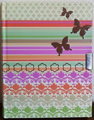 Writing Journal with Butterflies Lined with Hardcover New SM FAULT MISSING KEY