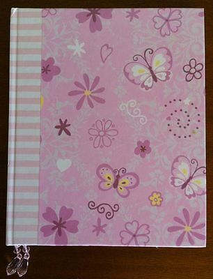 Note Book Unlined Journal Notebook Butterflies, Flowers and Hearts