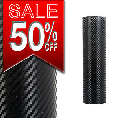 3D  4D Carbon  Fibre Vinyl Wrap Air/bubble Free Black White Grey Small Sizes