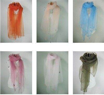 New Women Organza Shawls Scarf Weddings Bridal Bridesmaid Evenings Scarf Wrap