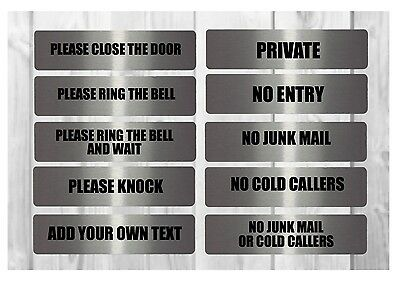 VITAL SIGNS BOLD Large House Office Plaques: Junk Mail, Beware Dog, Close Door