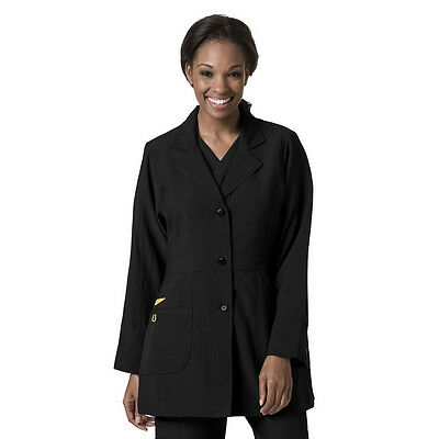 "Wonder Wink 4 Stretch 32"" Black Lab Coat Style 7004 (All Sizes)"
