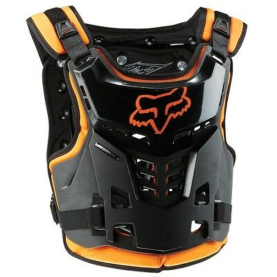 Fox Racing NEW Mx Youth ProFrame Black Orange Chest Motocross Kids Body Armour