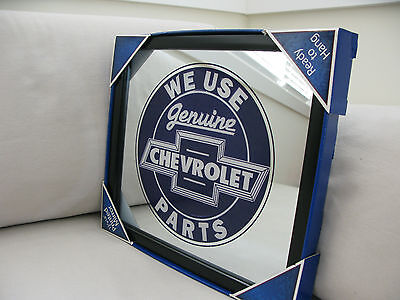 We use Genuine Chevrolet Parts MIRROR Black Framed Brand NEW GARAGE Workshop