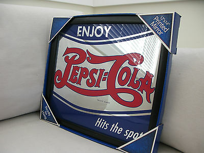 Enjoy PEPSI COLA Hits the Spot MIRROR Black Framed Brand NEW Bar DINER Hotel