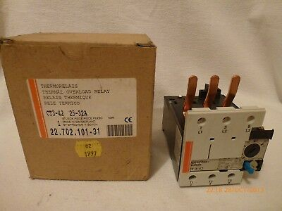 Sprecher + Schuh CT3-42 Thermal Overload Relay 660V 25-32A 22.702.101.31 New