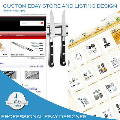 Ebay Store Template design with Dynamic category + additional pages if required