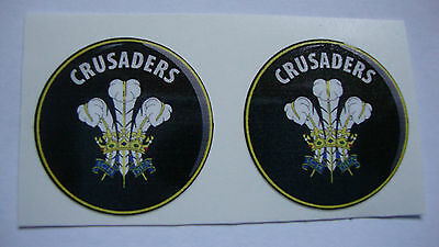 "12 CRUSADERS CROWN GREEN BOWLS STICKERS  1/"" LAWN BOWLS INDOOR IPADS PHONES"