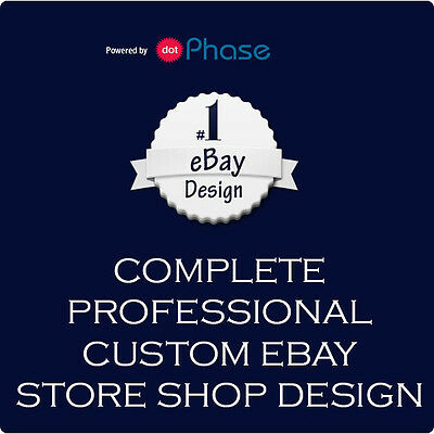Complete Professional Custom eBay Store Shop Design and Installation + Pages